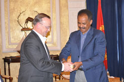 The CEO of Nevsun, and the President of Eritrea